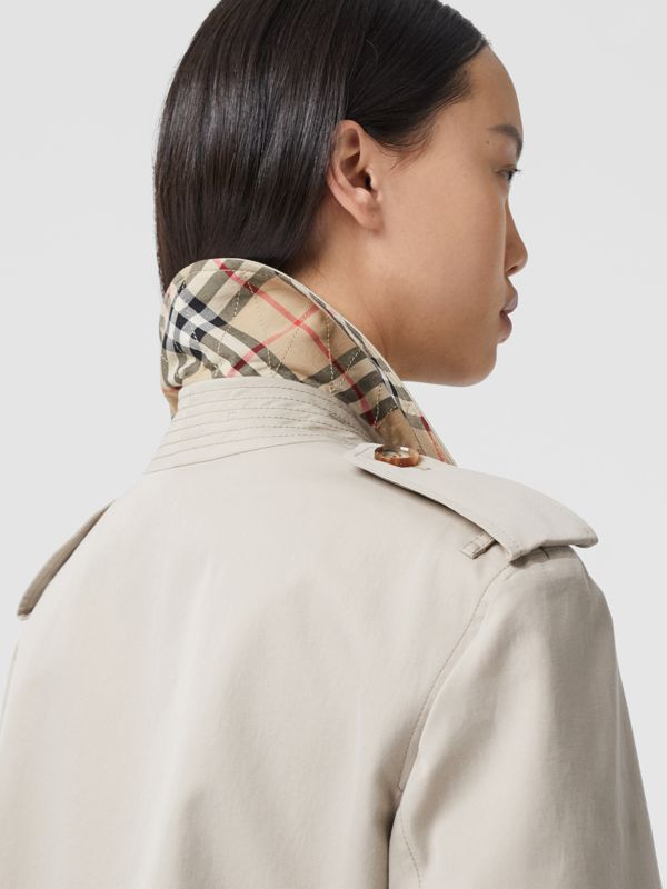 Two-tone Reconstructed Trench Coat in Light Sand - Women | Burberry United Kingdom - cell image 3