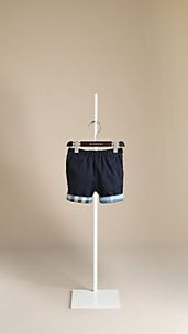 Check Cuff Chino Shorts