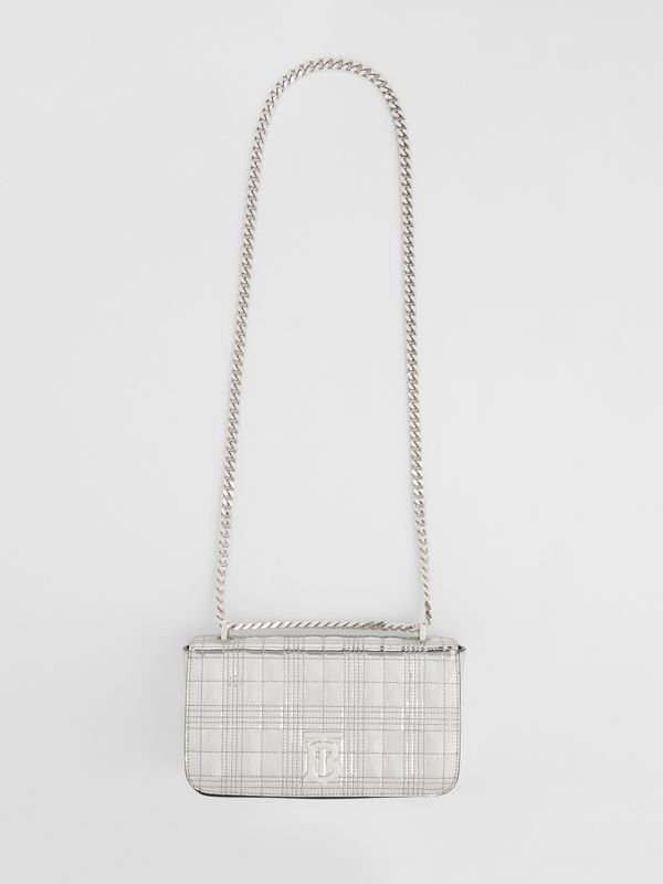 Small Quilted Metallic Leather Lola Bag in Silver - Women | Burberry - cell image 2