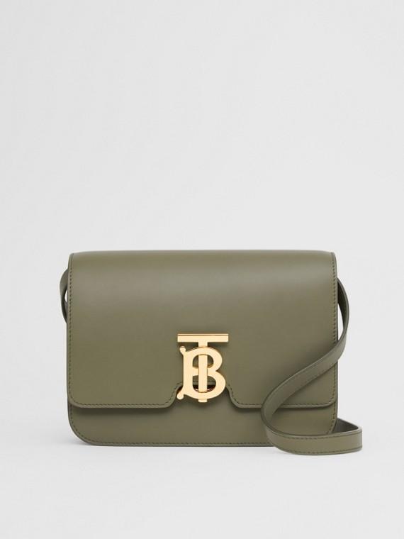 Bolsa TB de couro - Pequena (Verde Samambaia Escuro)