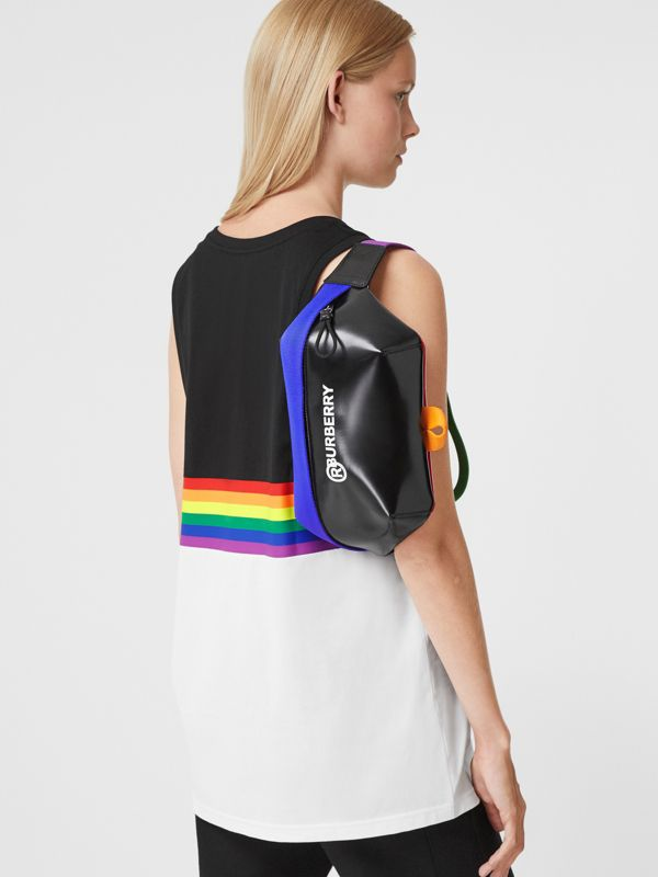 Logo Print Coated Canvas Sonny Bum Bag in Black/multicolour | Burberry United Kingdom - cell image 2
