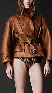 Sculptural Leather Driving Jacket