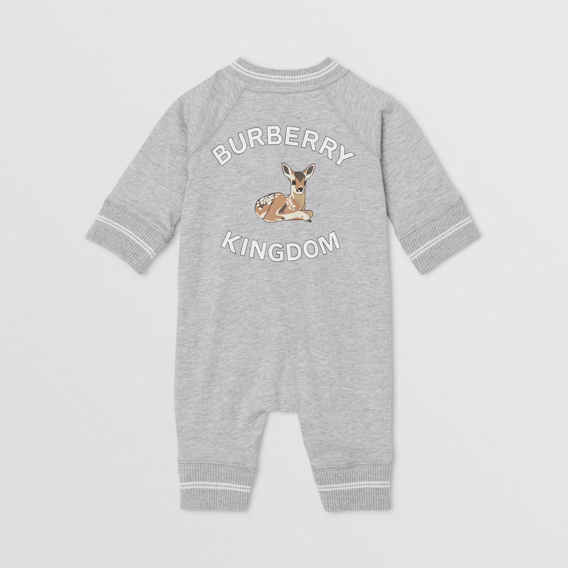 Logo and Deer Motif Cotton Jumpsuit - Children | Burberry United Kingdom - gallery image 2