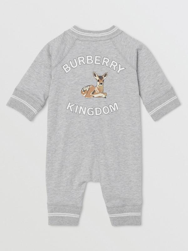 Logo and Deer Motif Cotton Jumpsuit - Children | Burberry United Kingdom - cell image 2