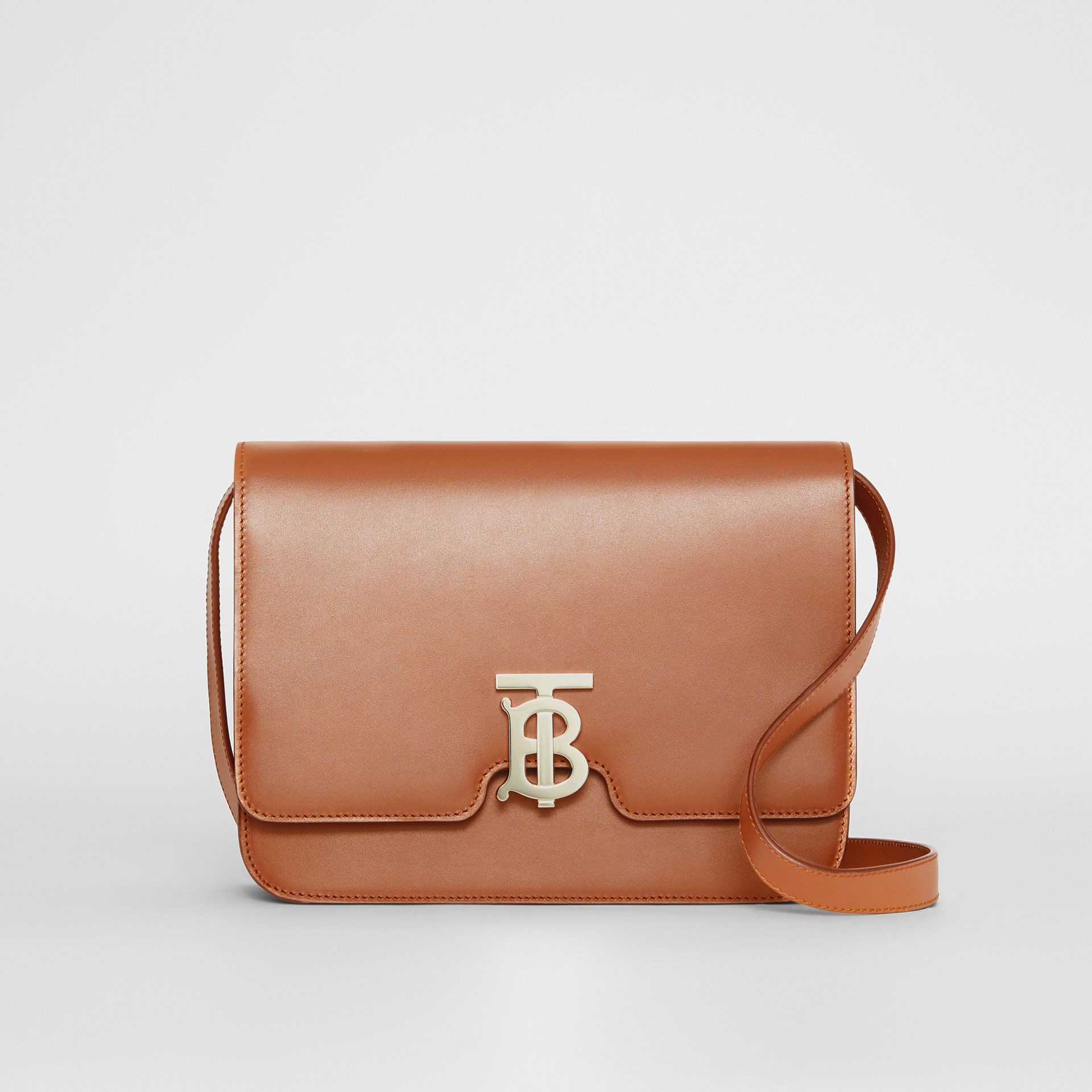 Medium Leather TB Bag in Malt Brown - Women | Burberry - gallery image 0