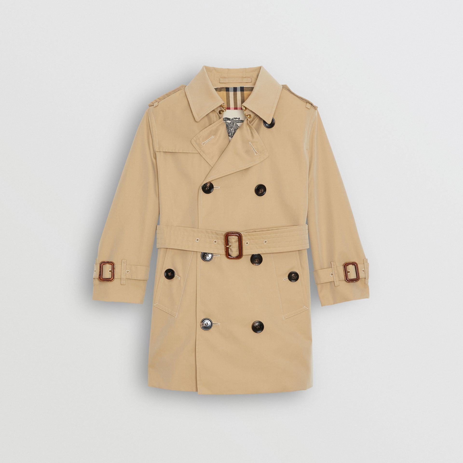Cotton Gabardine Trench Coat in Honey | Burberry Singapore - gallery image 0