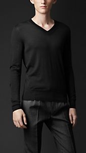 Cashmere Silk V-Neck Sweater