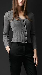 Open-Stitch Cashmere Cardigan