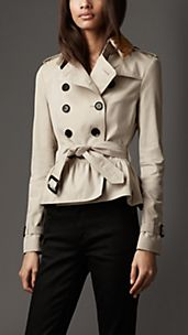 Cotton Gabardine Beaded Collar Jacket