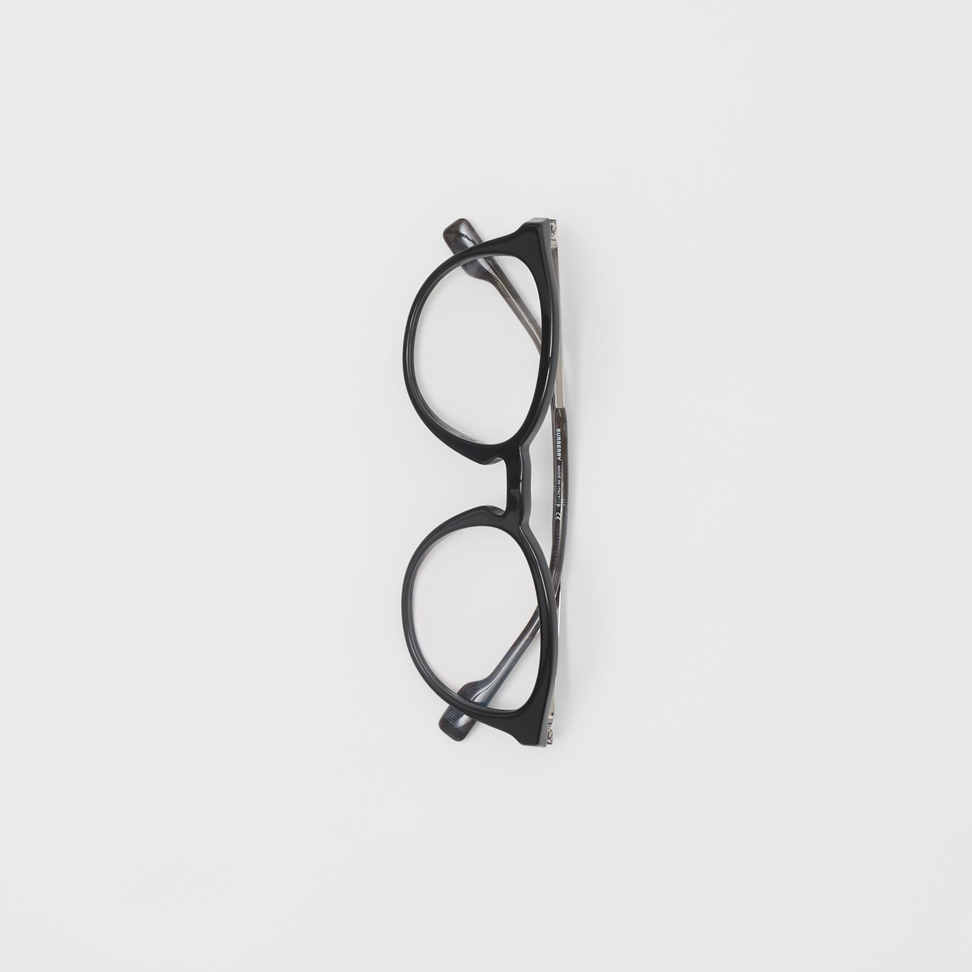 Round Optical Frames in Black - Men | Burberry - gallery image 3