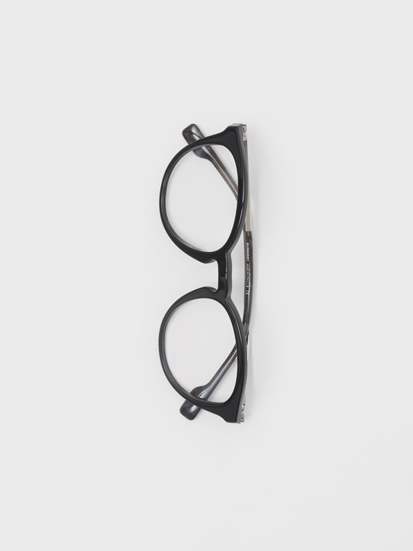 Round Optical Frames in Black - Men | Burberry - cell image 3