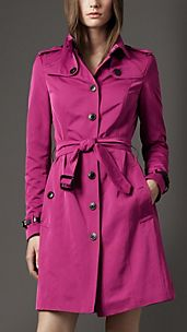 Long Pleat Detail Trench Coat