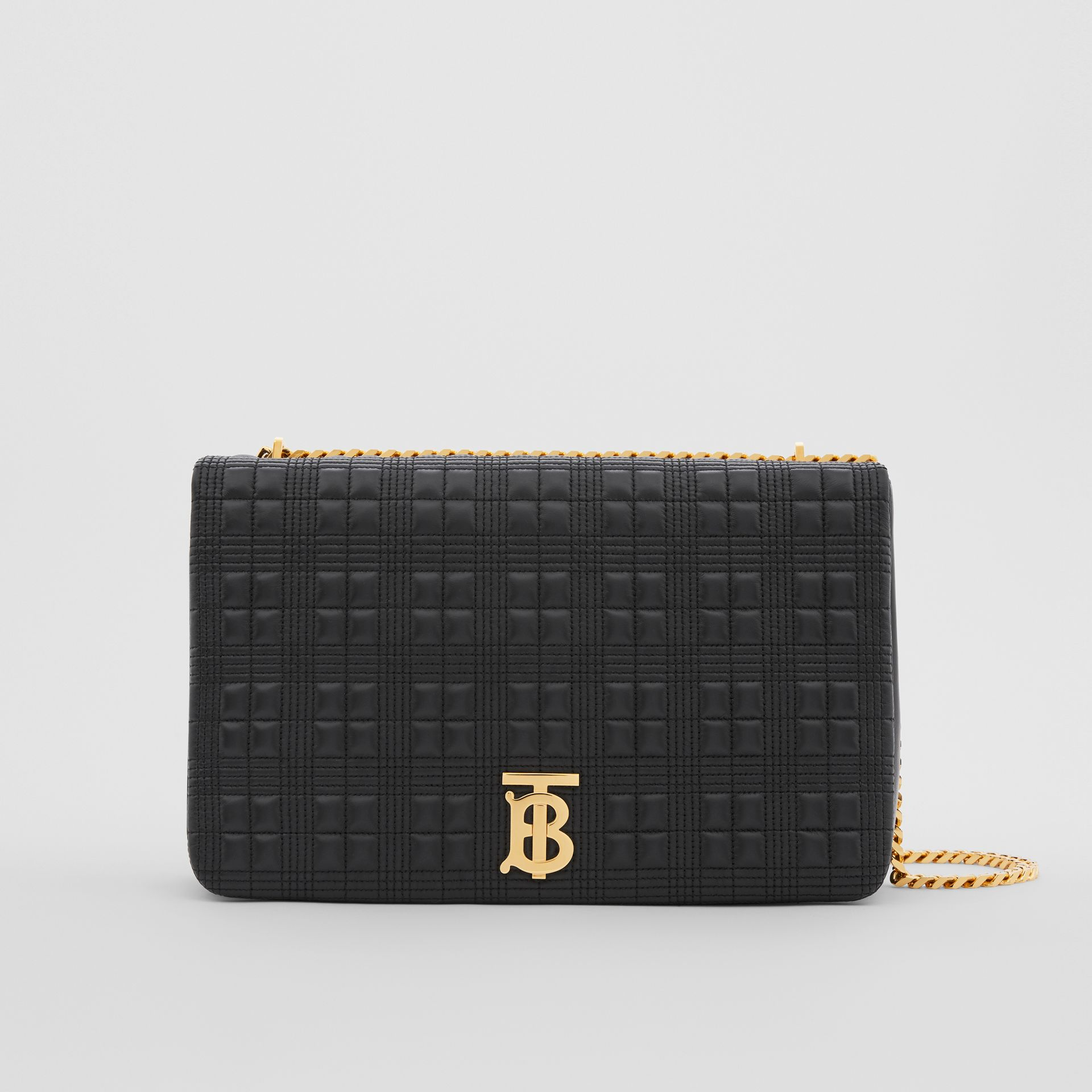 Extra Large Quilted Lambskin Lola Bag in Black - Women | Burberry Australia - gallery image 0
