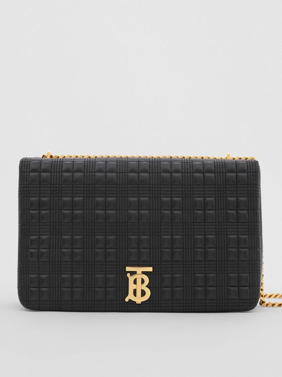 Extra Large Quilted Lambskin Lola Bag in Black