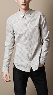 Contrast Gingham Shirt