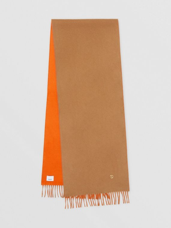 Reversible Monogram Motif Cashmere Scarf in Archive Beige