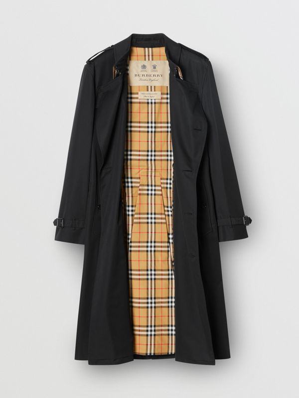 The Kensington - Trench coat Heritage longo (Preto) - Homens | Burberry - cell image 3