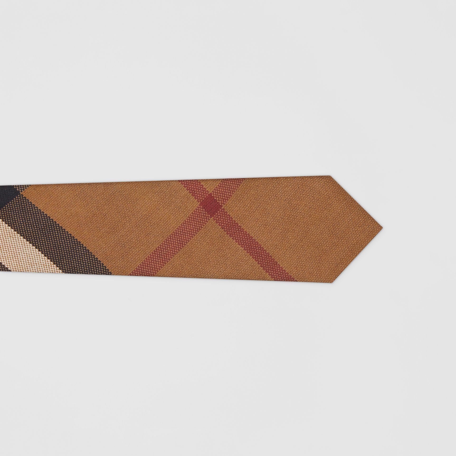 Classic Cut Check Silk Jacquard Tie in Birch Brown - Men | Burberry Canada - gallery image 1