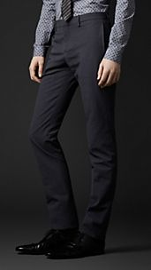 Skinny Fit Wool Trousers