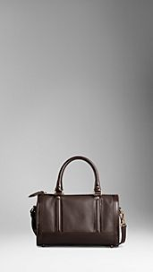 Medium London Grainy Leather Bowling Bag