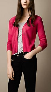 Wool Cashmere Cropped Cardigan