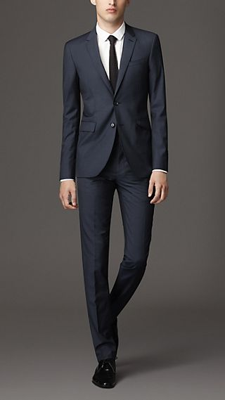 Slim Fit Virgin Wool Silk Suit