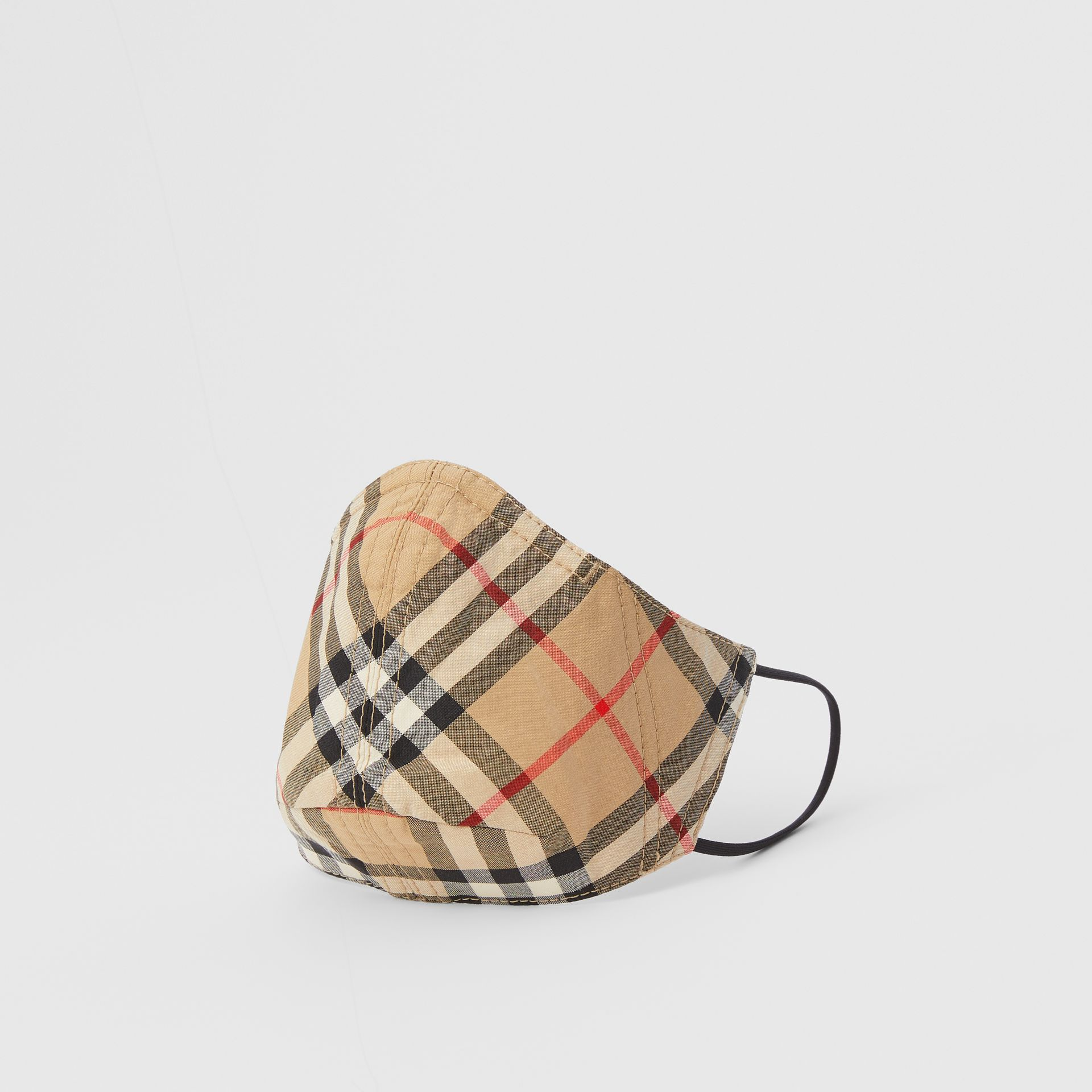 Vintage Check Cotton Face Mask in Archive Beige - Women | Burberry - gallery image 0