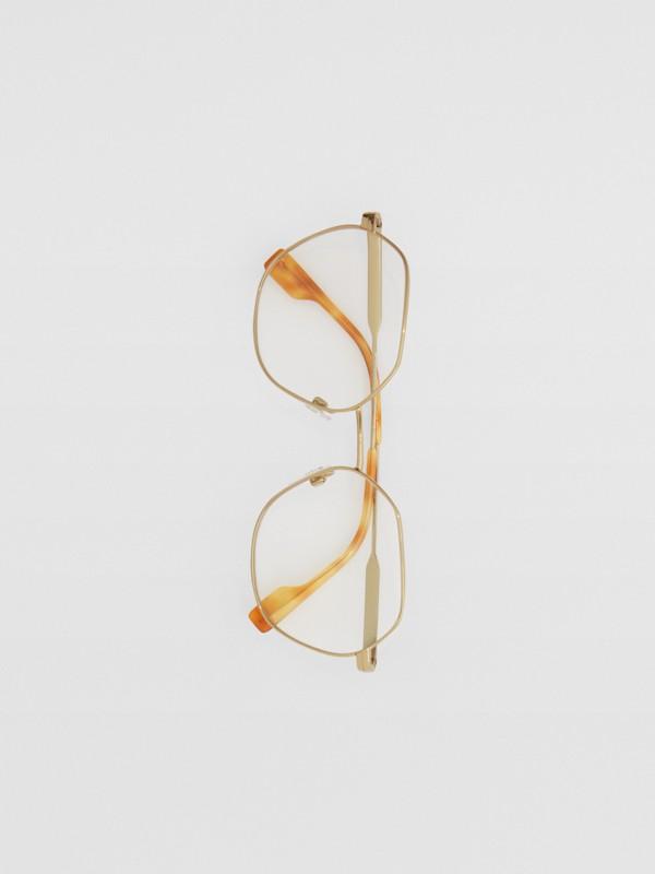Geometric Optical Frames in Tortoiseshell - Women | Burberry - cell image 3