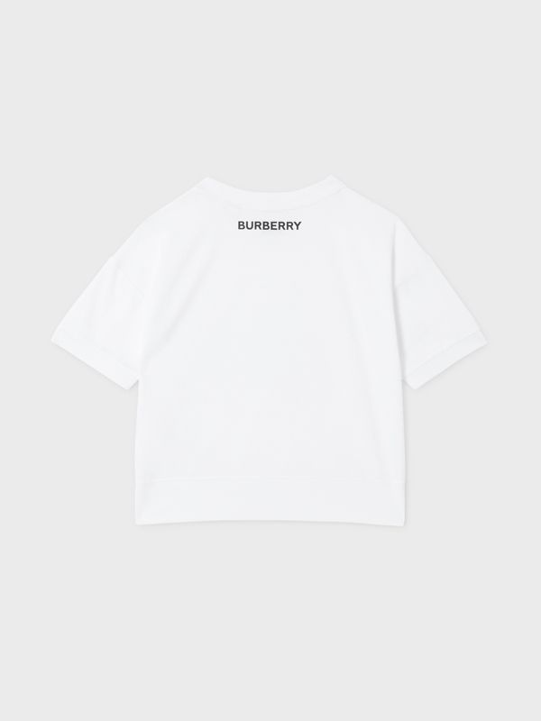 Confectionery Print Cotton T-shirt in White | Burberry - cell image 3