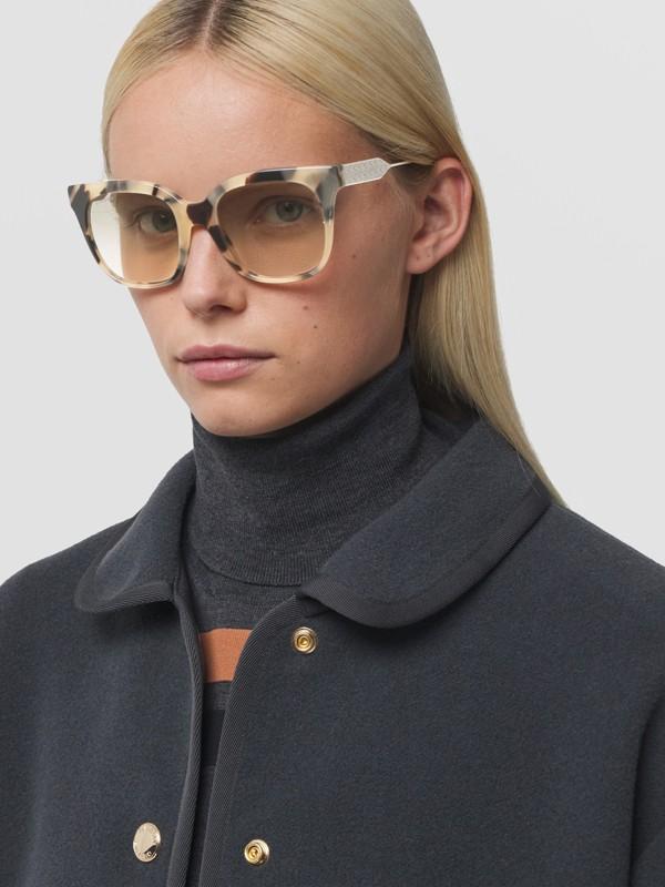Butterfly Frame Sunglasses in Honey Tortoiseshell - Women | Burberry - cell image 2
