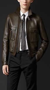 Bonded Leather Bomber