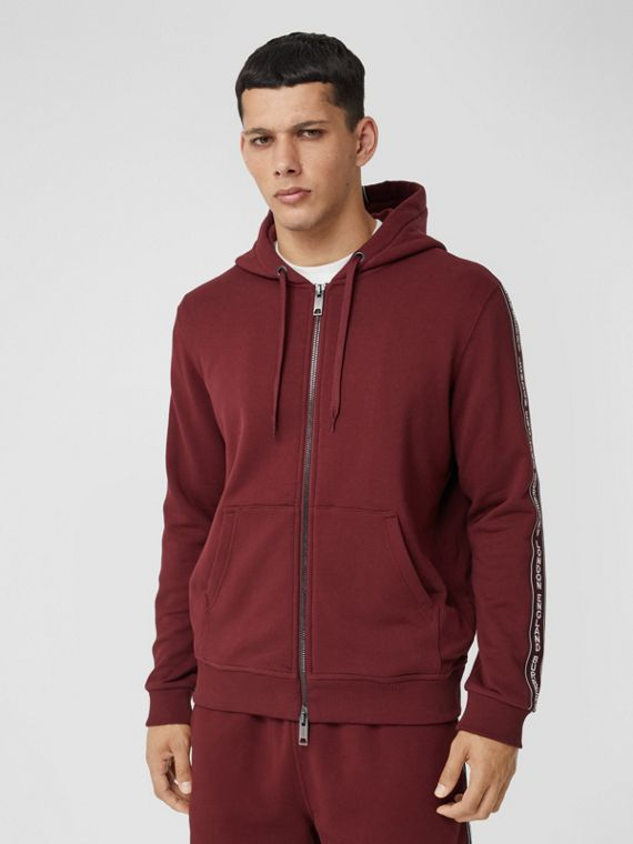 Logo Tape Cotton Hooded Top