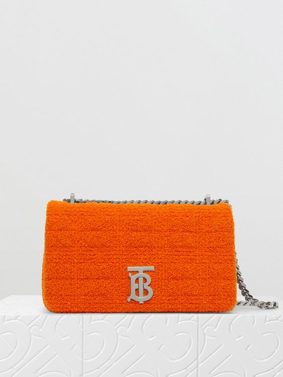 Small Quilted Towelling Lola Bag in Bright Orange