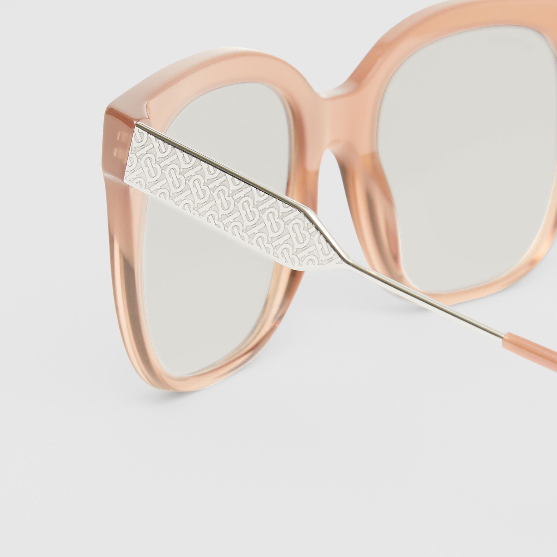 Butterfly Frame Sunglasses in Nude Pink - Women | Burberry - gallery image 1