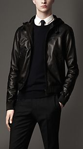 Hooded Lambskin Blouson