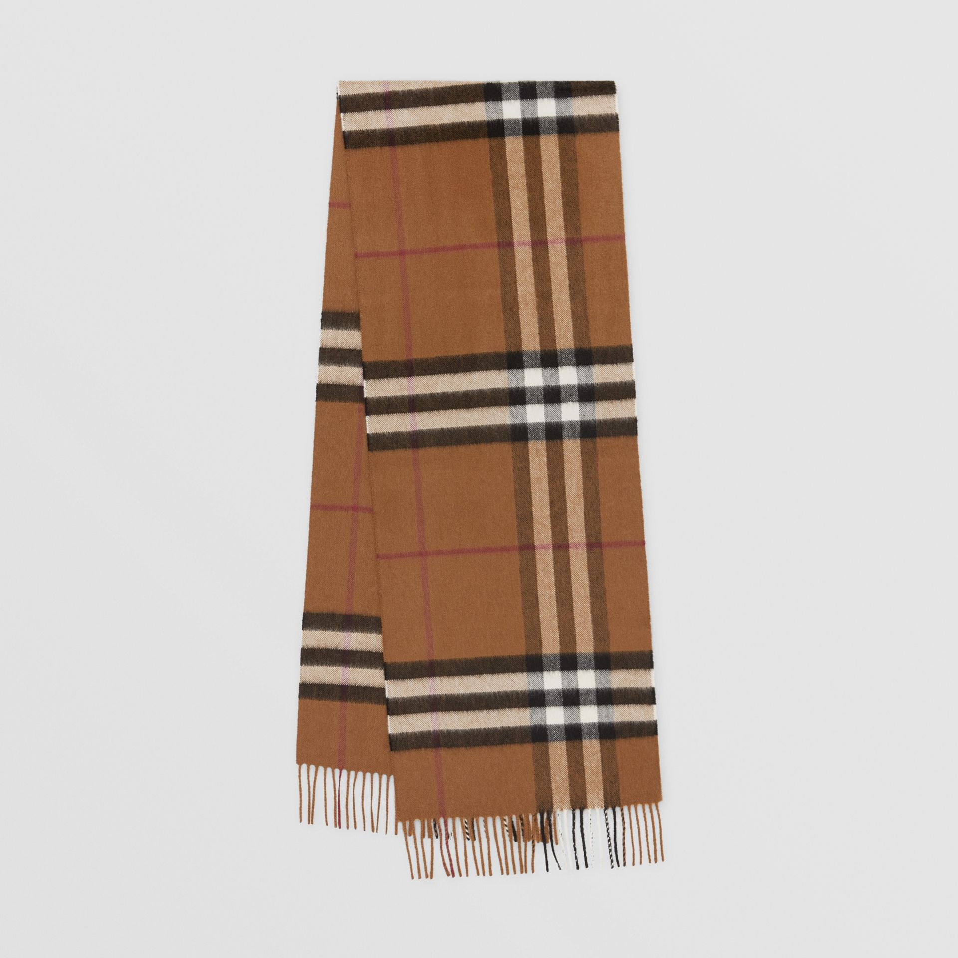 The Classic Check Cashmere Scarf in Birch Brown | Burberry United Kingdom - gallery image 0