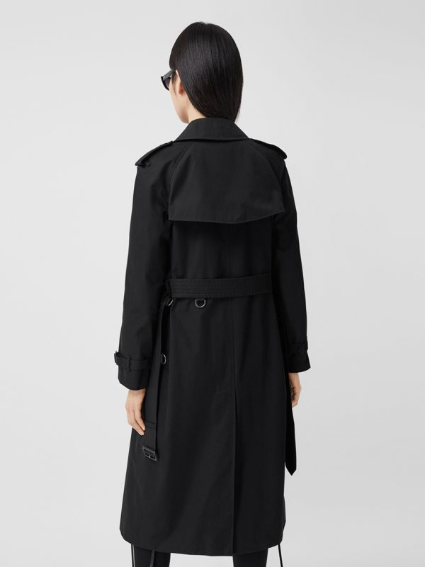 The Long Waterloo Heritage Trench Coat in Black - Women | Burberry - cell image 2