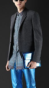 Slim Fit Flecked Twill Jacket