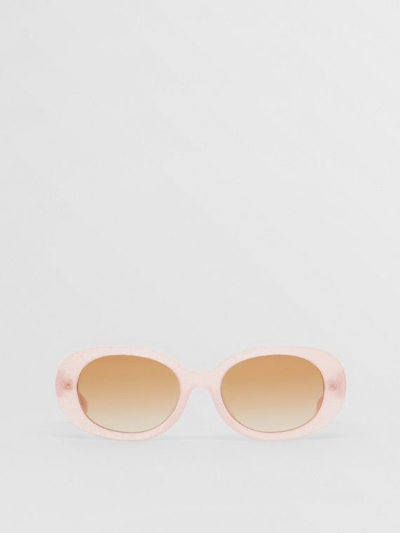 Oval Frame Sunglasses in Pink
