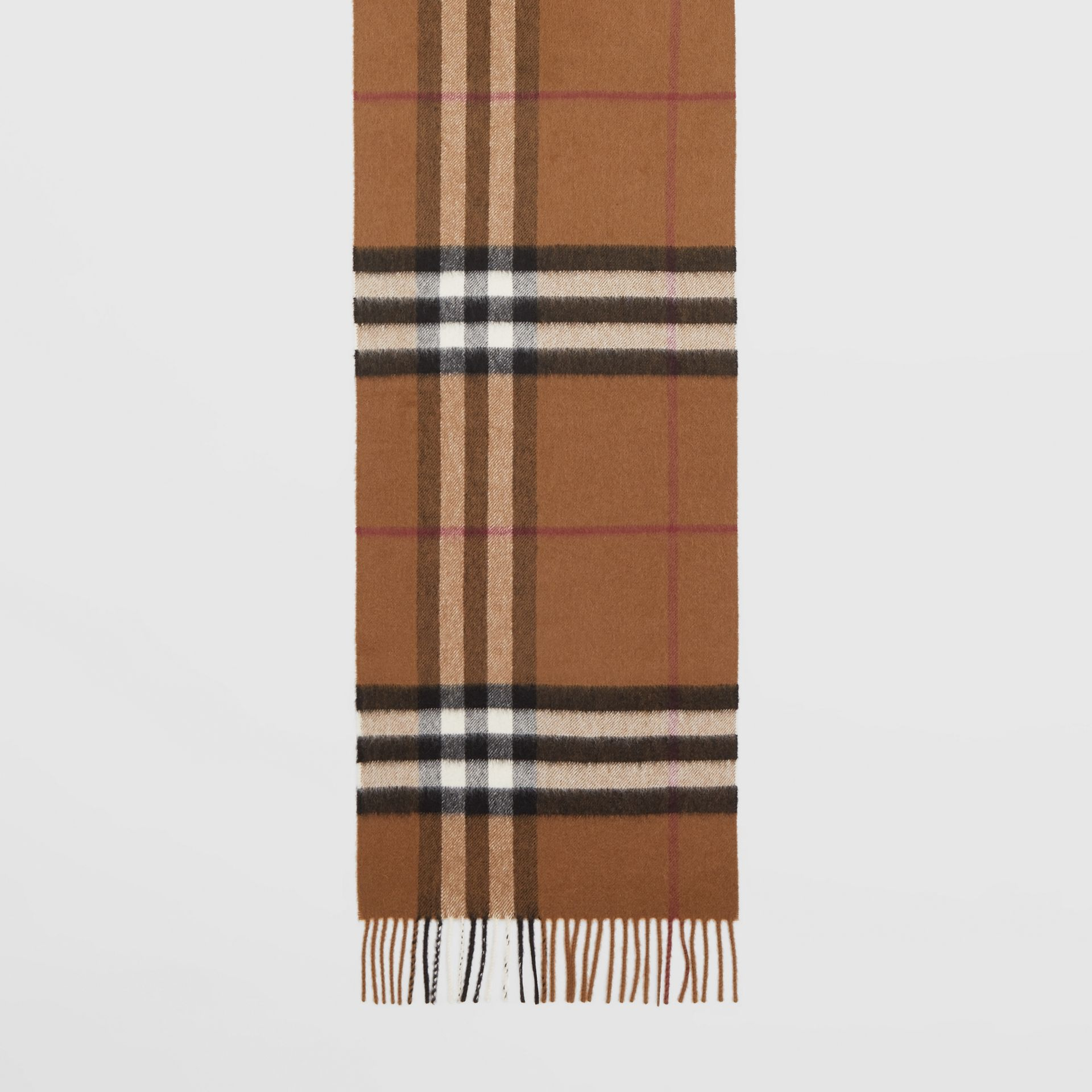 The Classic Check Cashmere Scarf in Birch Brown | Burberry - gallery image 4