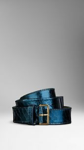 Metallic Python Bow Belt