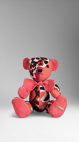 Book Cover Print Teddy Bear