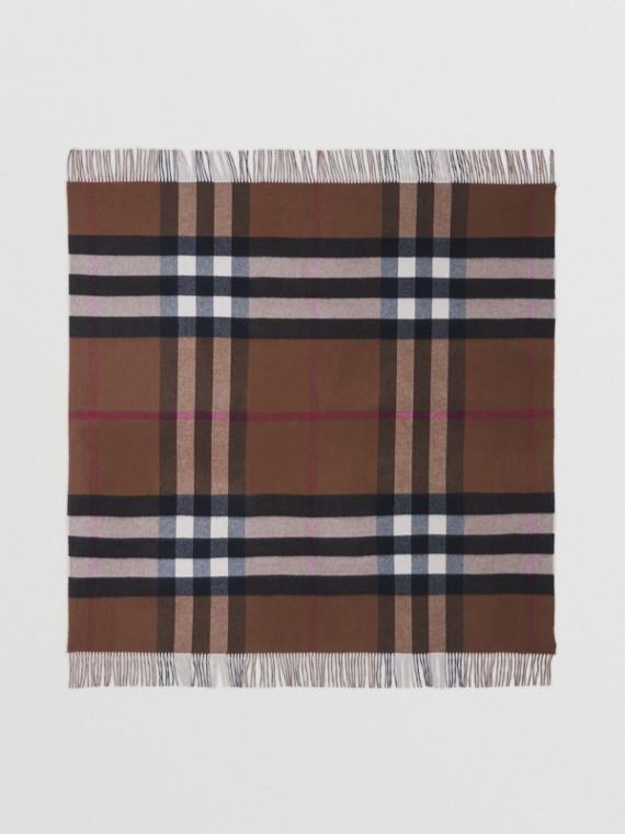 Check Cashmere Blanket in Birch Brown/archive Beige