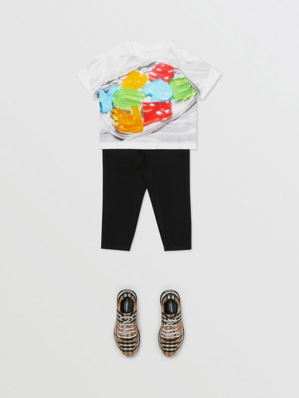 Confectionery Print Cotton T-shirt in Multicolour - Children | Burberry - cell image 3
