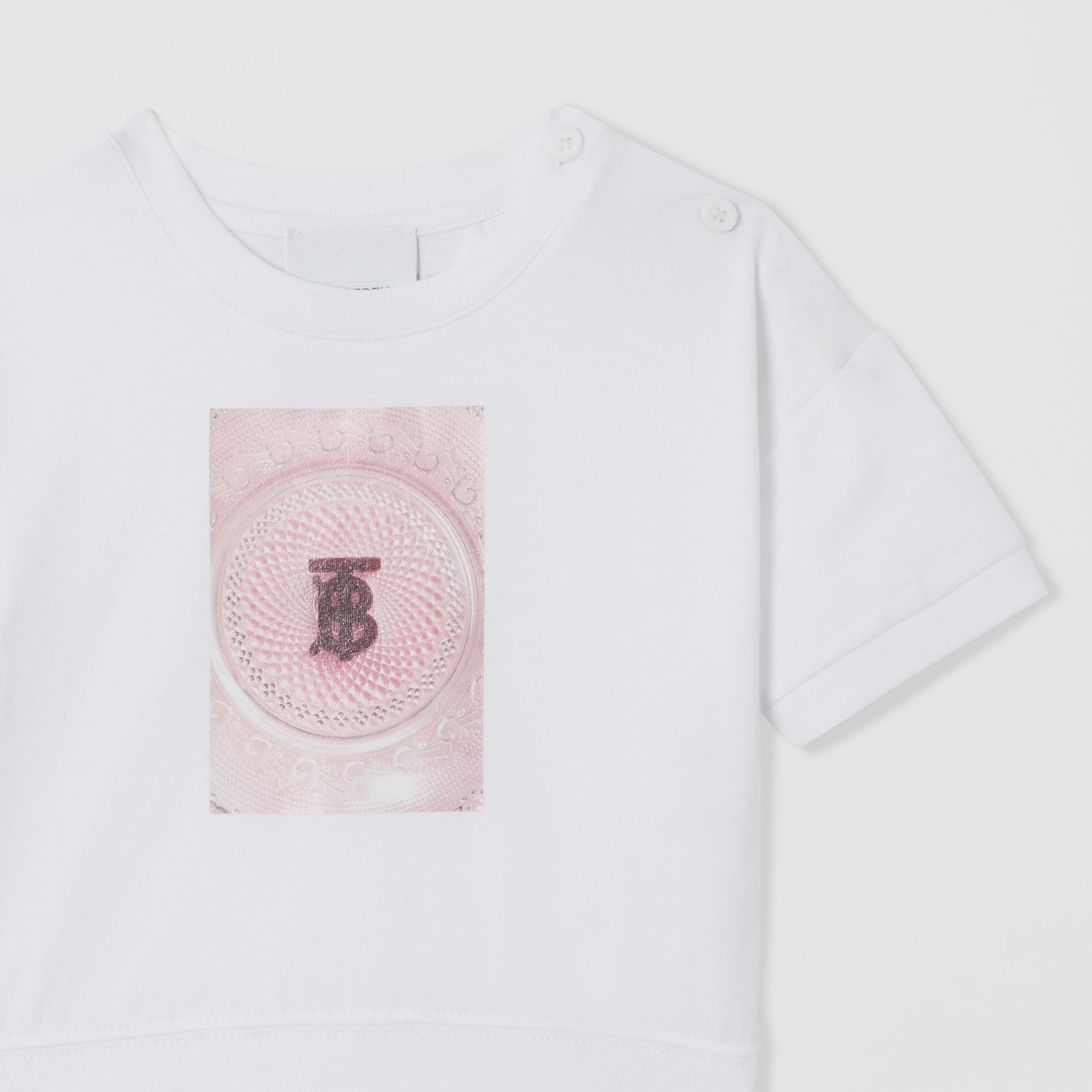 Confectionery Print Cotton T-shirt in White - Children | Burberry - gallery image 4
