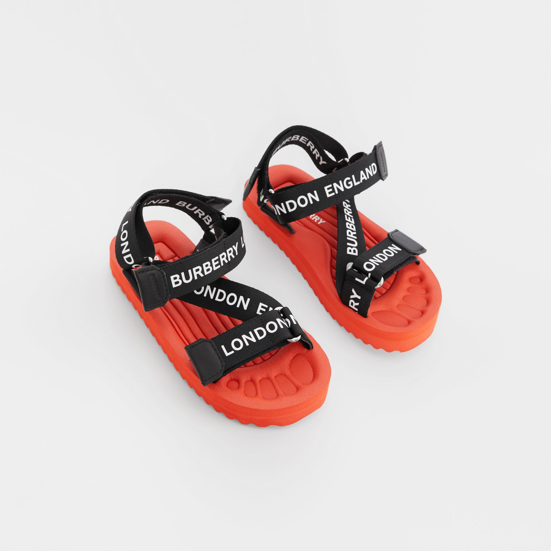 Logo Print Sandals - Children | Burberry United Kingdom - gallery image 0