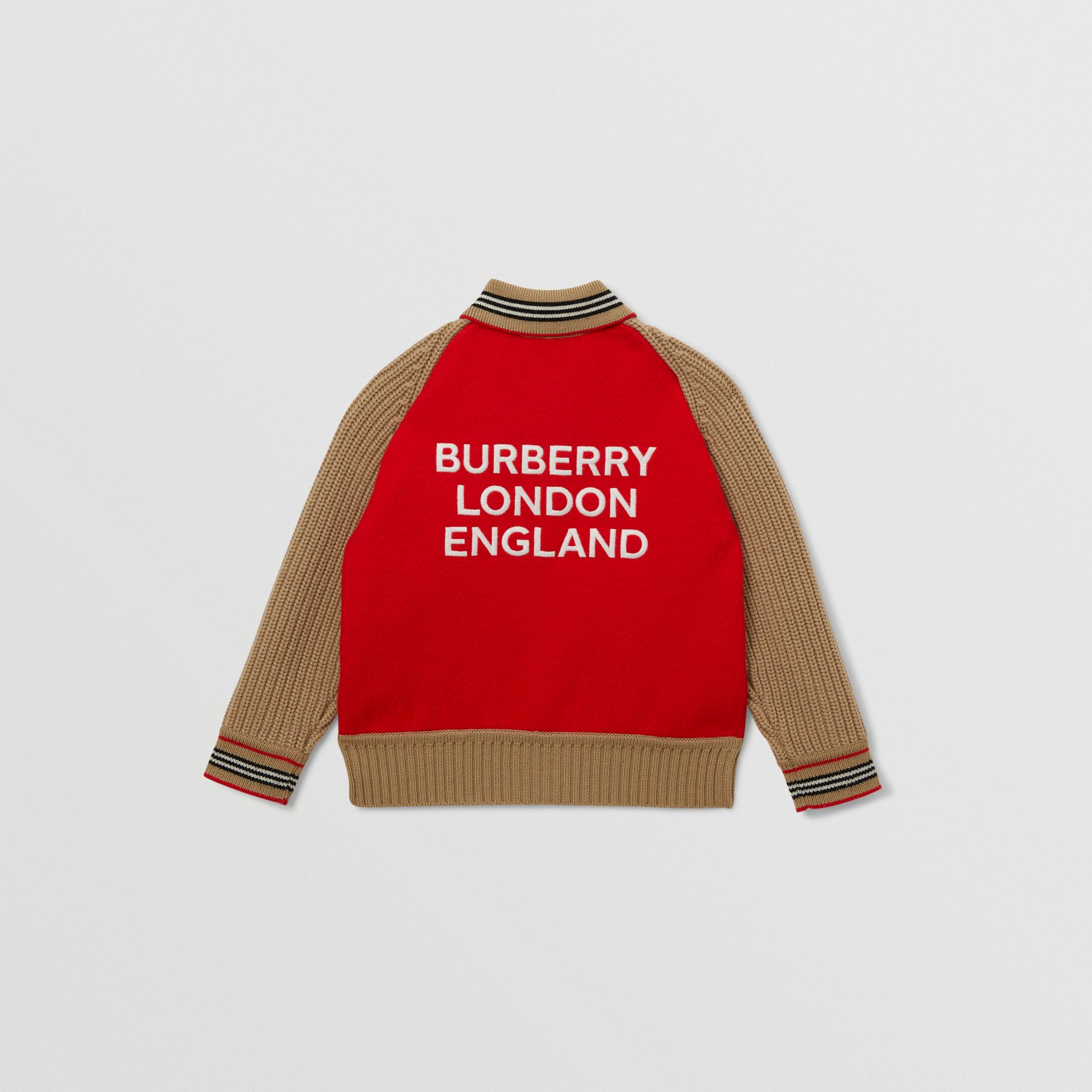 Star Motif Colour Block Wool Jacket | Burberry United Kingdom - gallery image 2