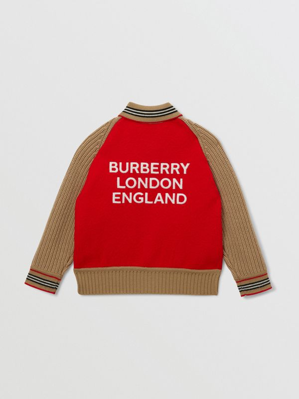Star Motif Colour Block Wool Jacket | Burberry United Kingdom - cell image 2
