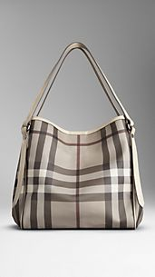 Medium Smoked Check Tote Bag