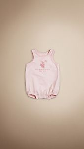 Body de algodón Burberry Baby Knight